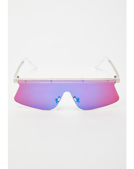 Techno-Color Shield Sunglasses