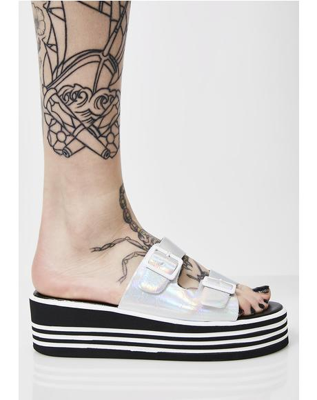 Zanter Crystal Platform Sandals