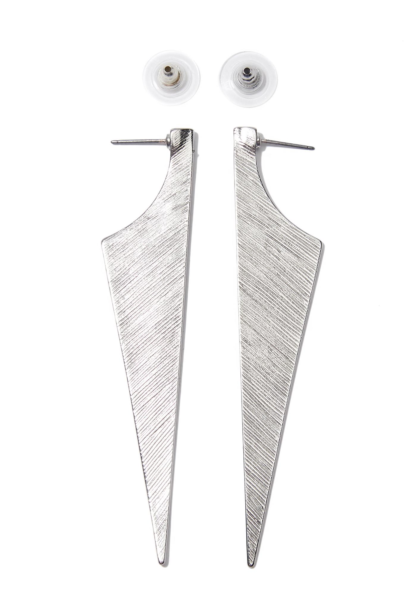 Sharp Tongue Dagger Earrings