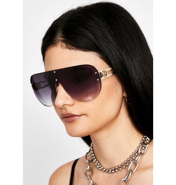 Sangria Realest Bish Aviator Sunglasses