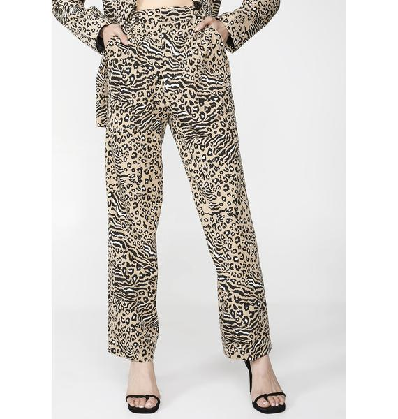 Sacred Hawk Animal Suit Trousers