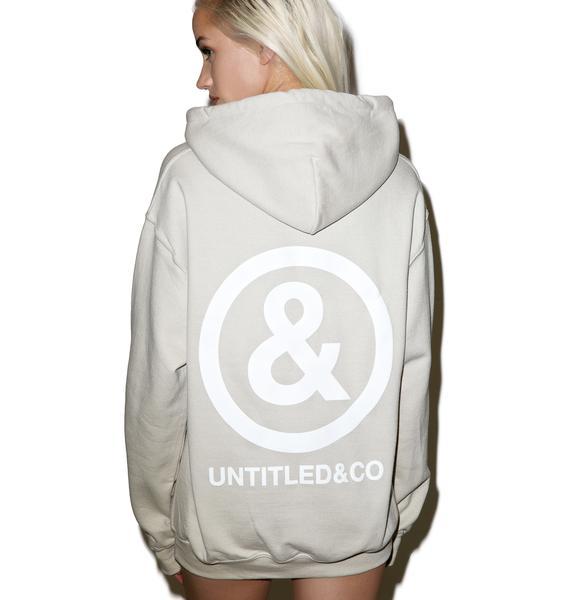 Untitled & Co Sand Logo Hoodie
