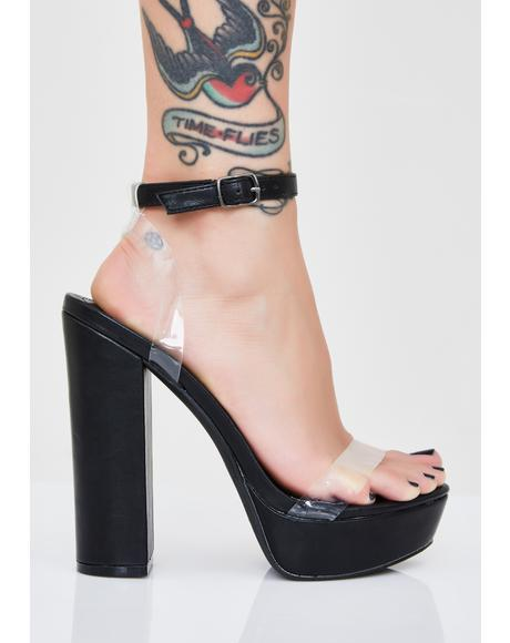Sinful It Girl Platform Heels