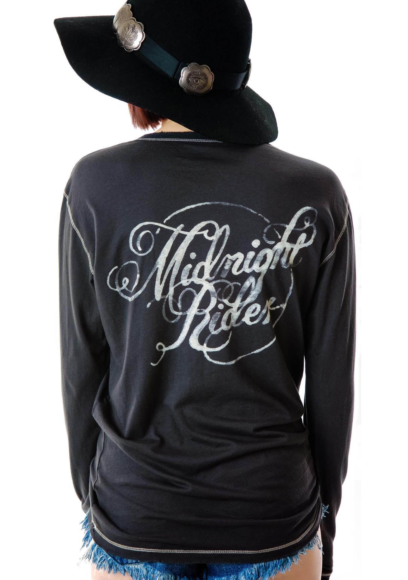 Midight Rider Logo Unisex Henley