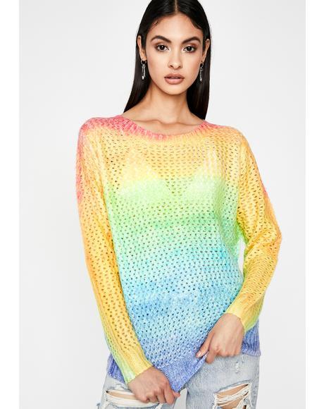 Sour Punch Kicks Knit Sweater