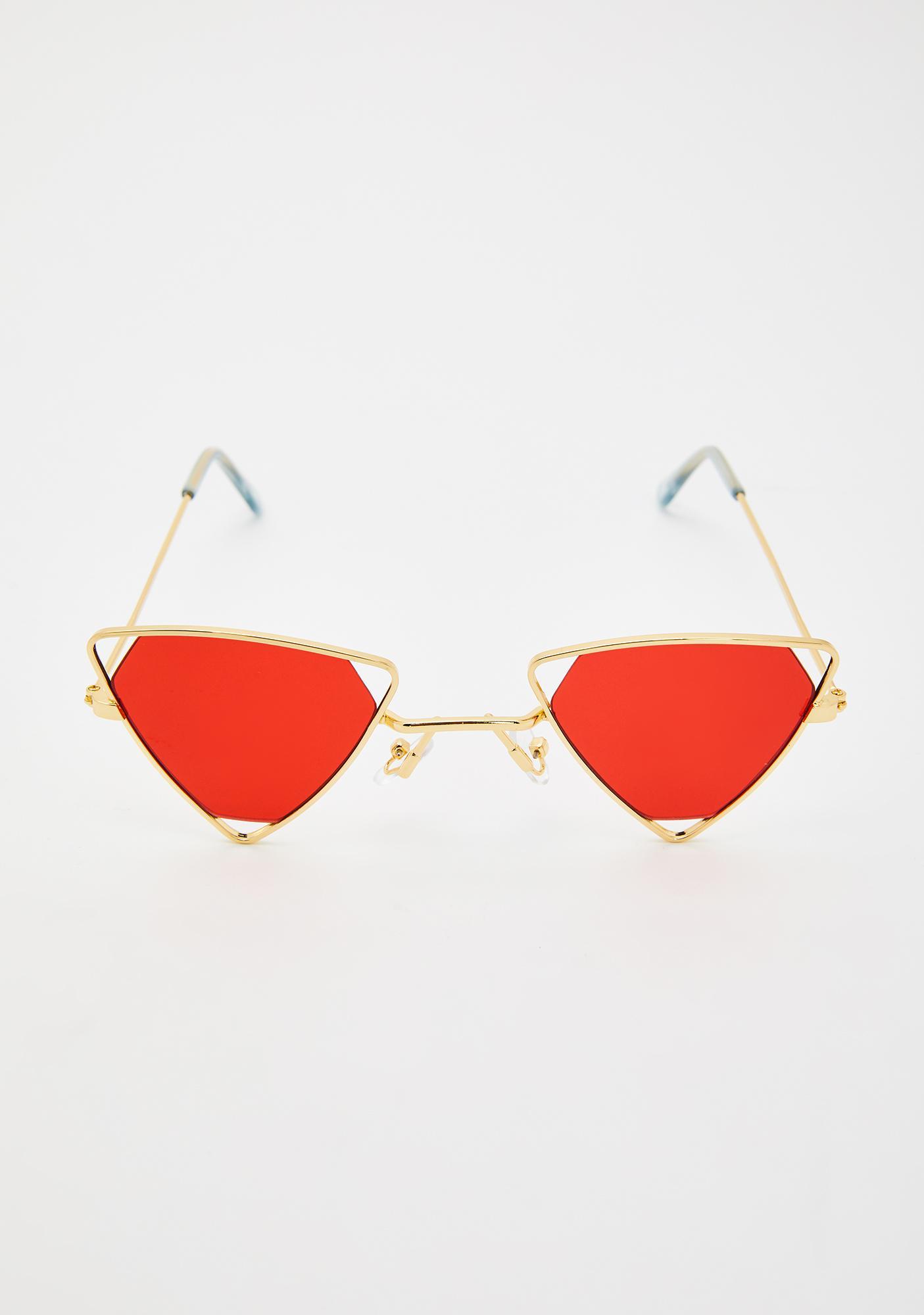 Lit Broke Bish Triangle Sunglasses