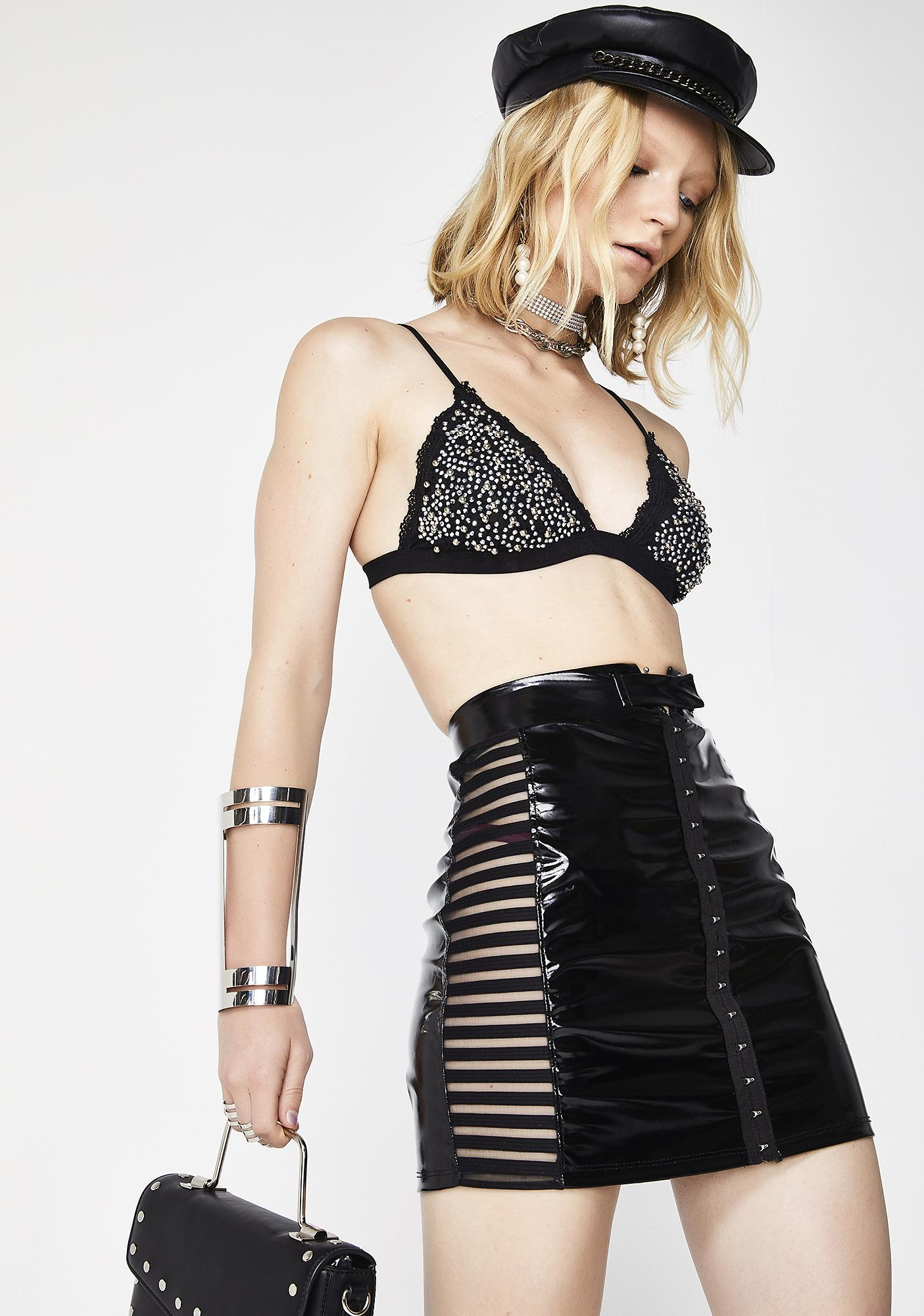 Queen Of The Night PVC Skirt