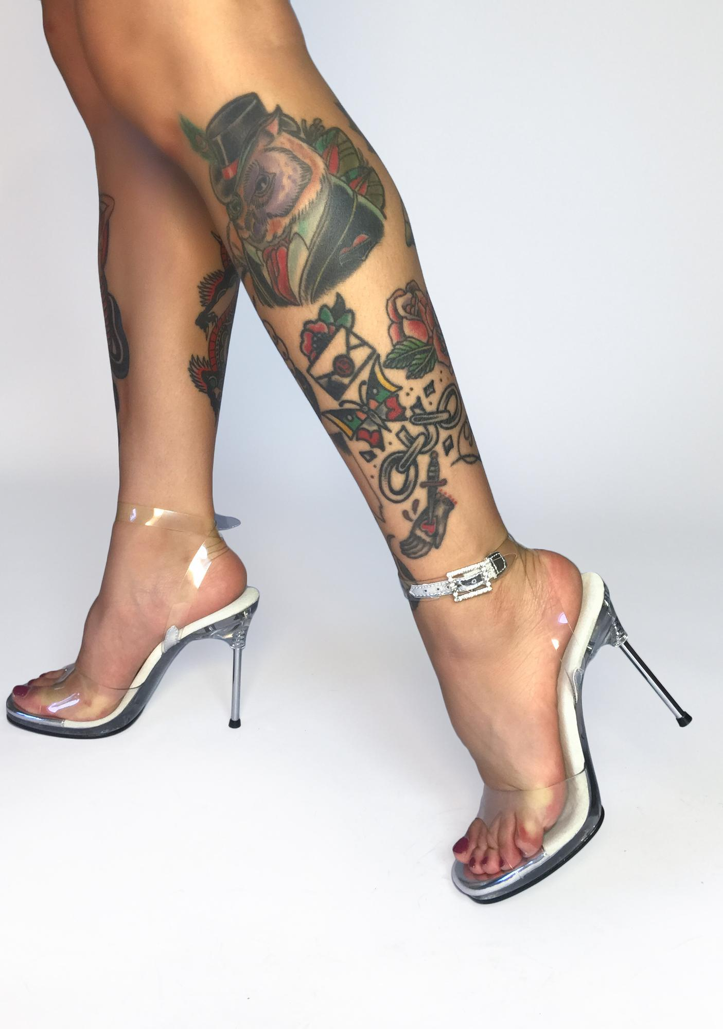 Fabulicious See It Thru Clear Heels