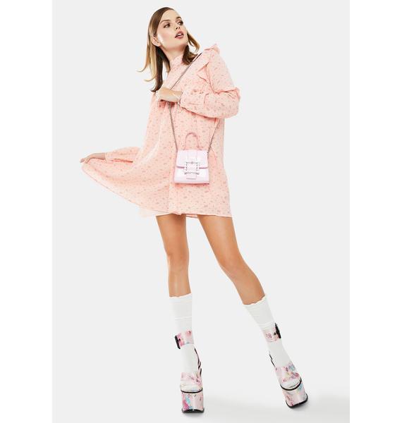 Daisy Street Pink Floral Smock Dress