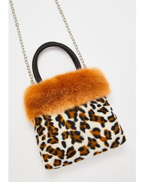Feisty Flirt Leopard Handbag