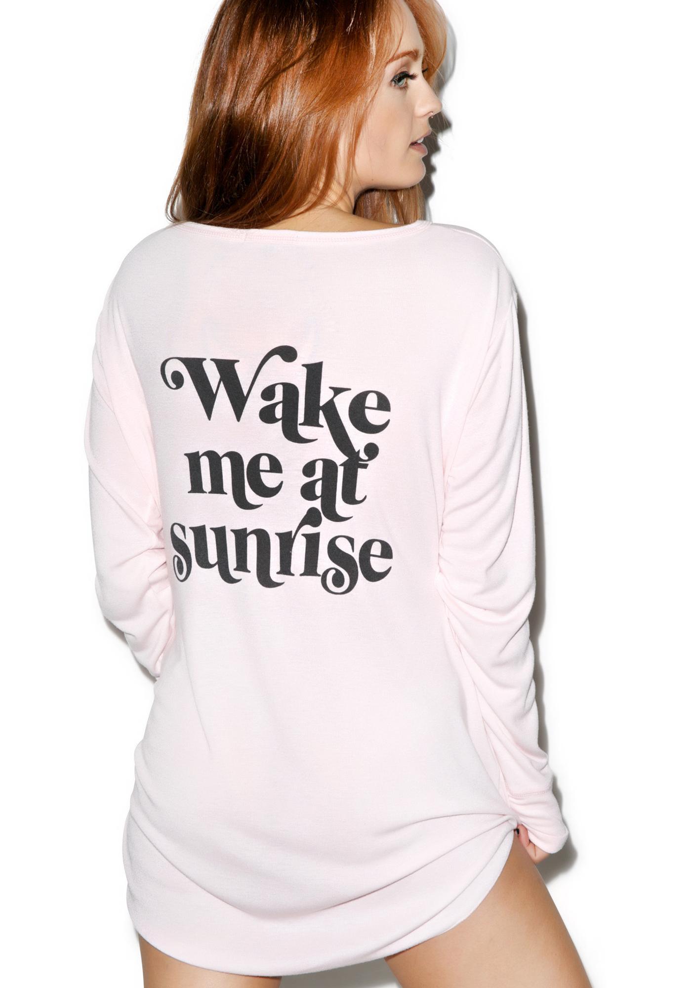 Wildfox Couture Wake Me At Sunrise Summer In Sleep Shirt