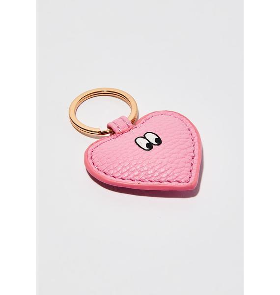 Lazy Oaf Pink Weirdo Keychain