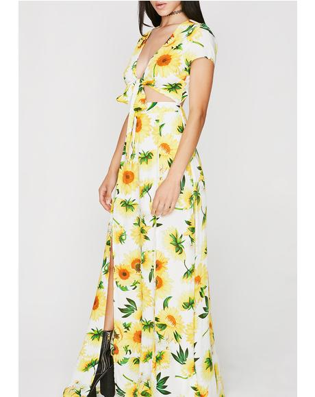 Funflower Maxi Dress