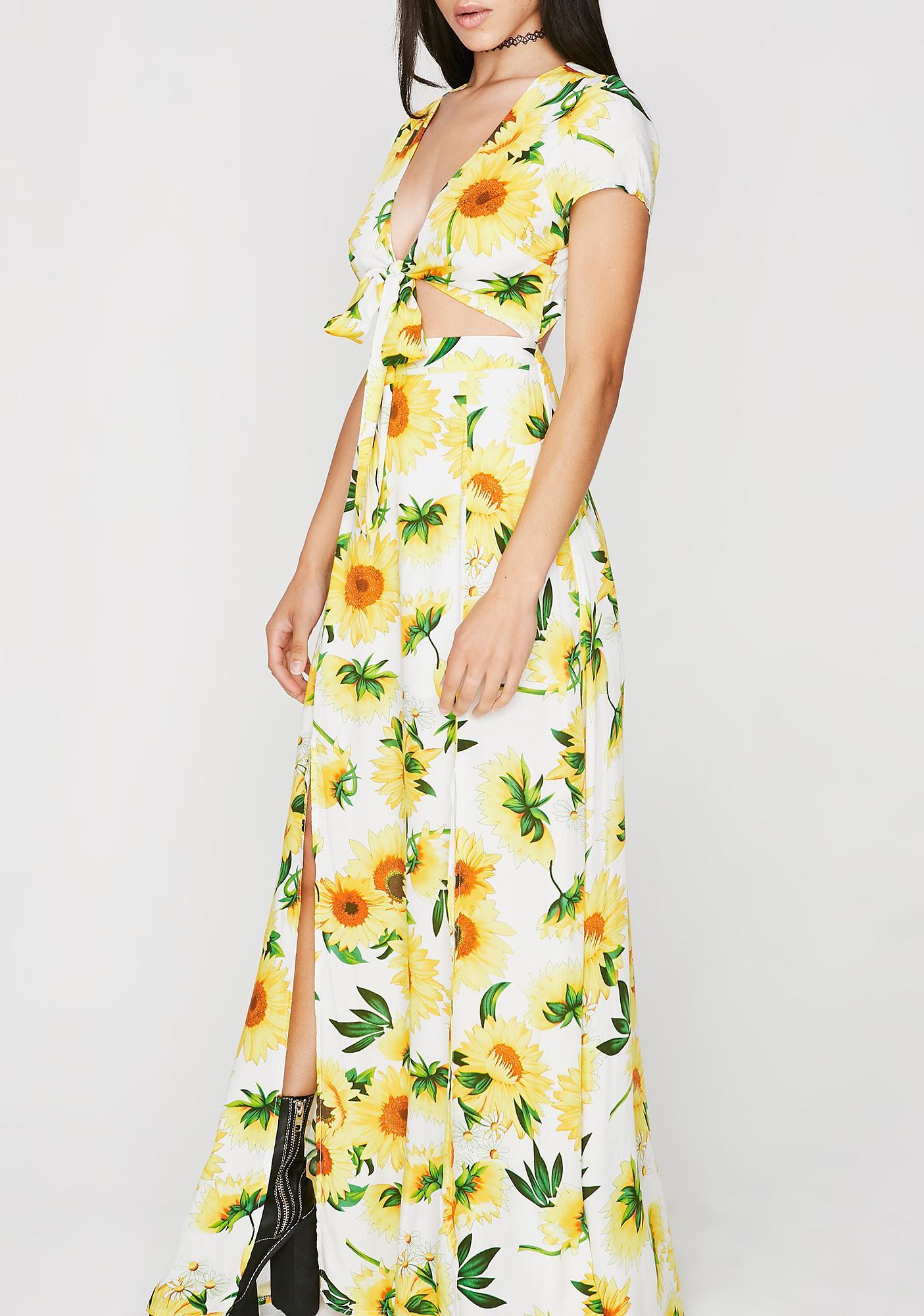 Funflower Maxi Dress