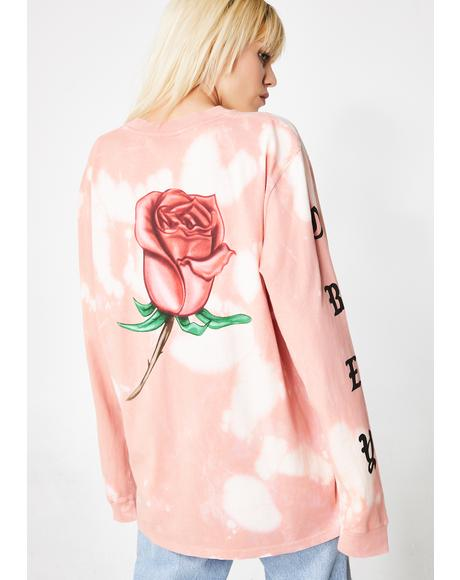 Slauson Rose Long Sleeve Tie Dye Tee