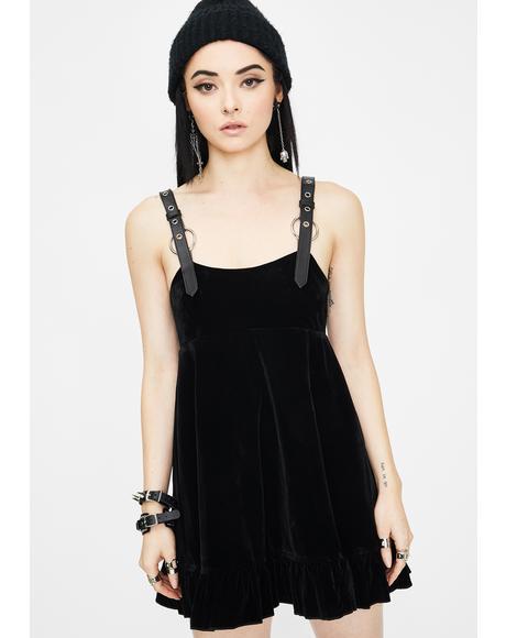 Velvet Pendulum Strap Dress