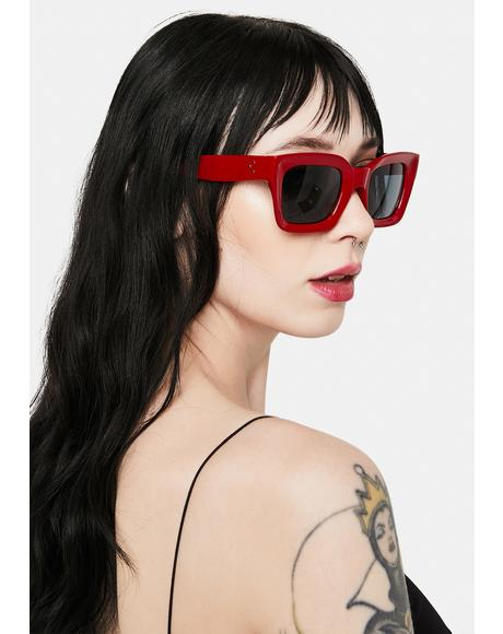 Hendrix Red Smoke Sunglasses