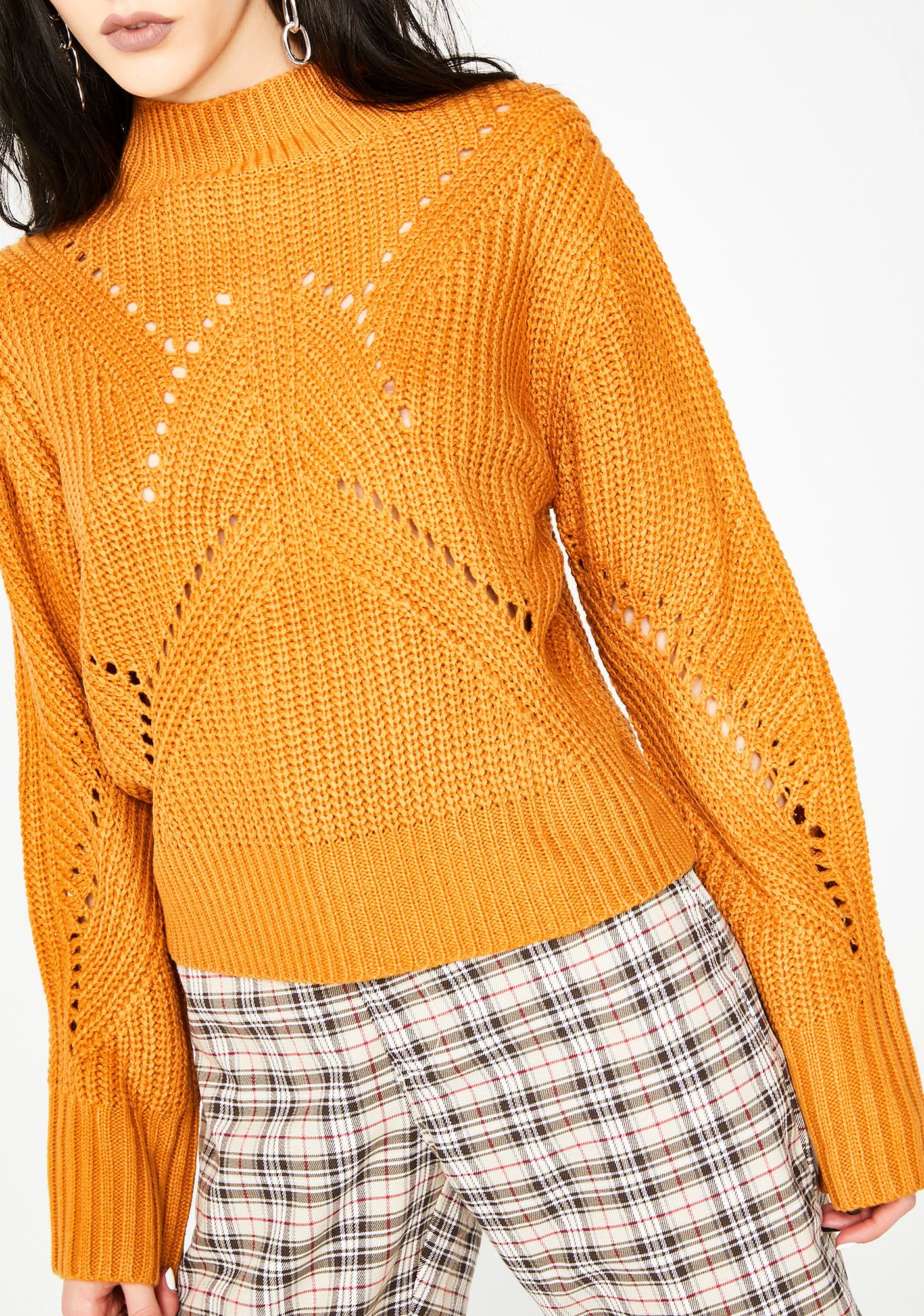 Honey Nap Time Lace-Up Sweater