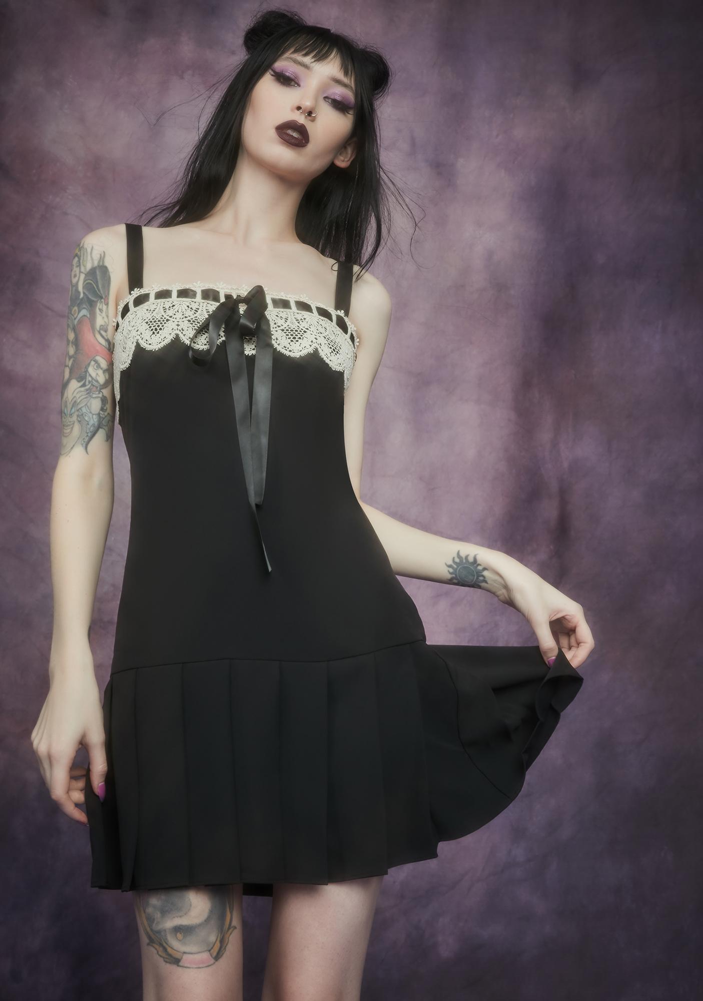 Widow Lesser Evil Pleated Mini Dress