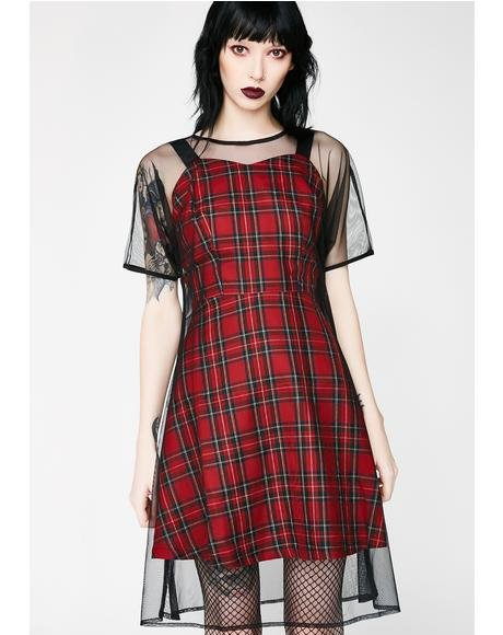 New Nostalgia Tartan Dress