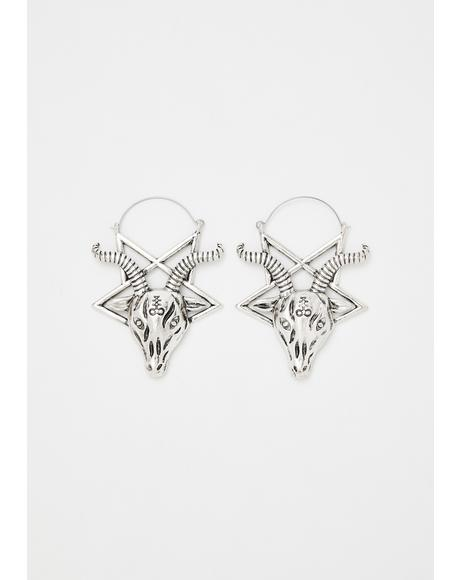 Horned God Pentagram Earrings