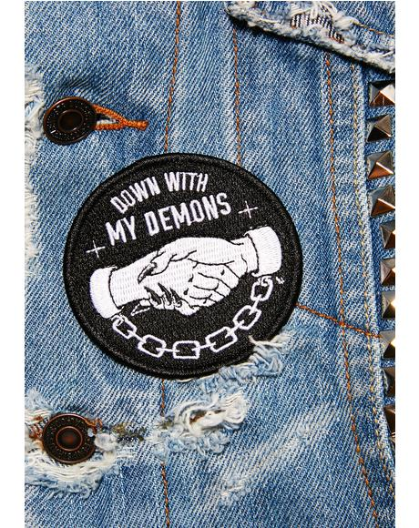 Demons Iron-On Patch