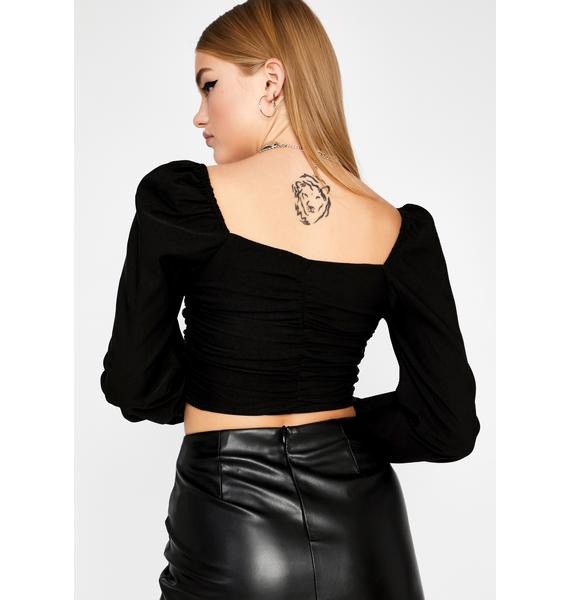 Afflicted Affair Lace Up Top