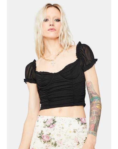 Noir Go With It Bustier Crop Top
