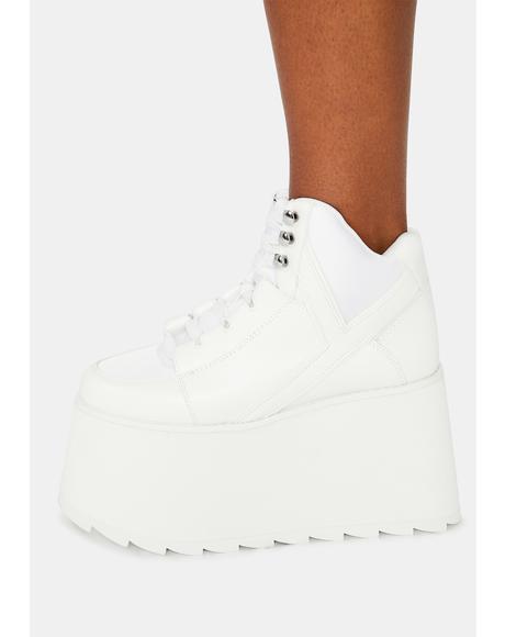White Qozmo 2 Platform Sneakers