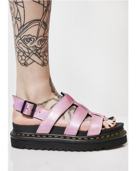 Yelena Metallic Sandals