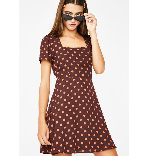 Learn A Lesson Polka Dot Dress