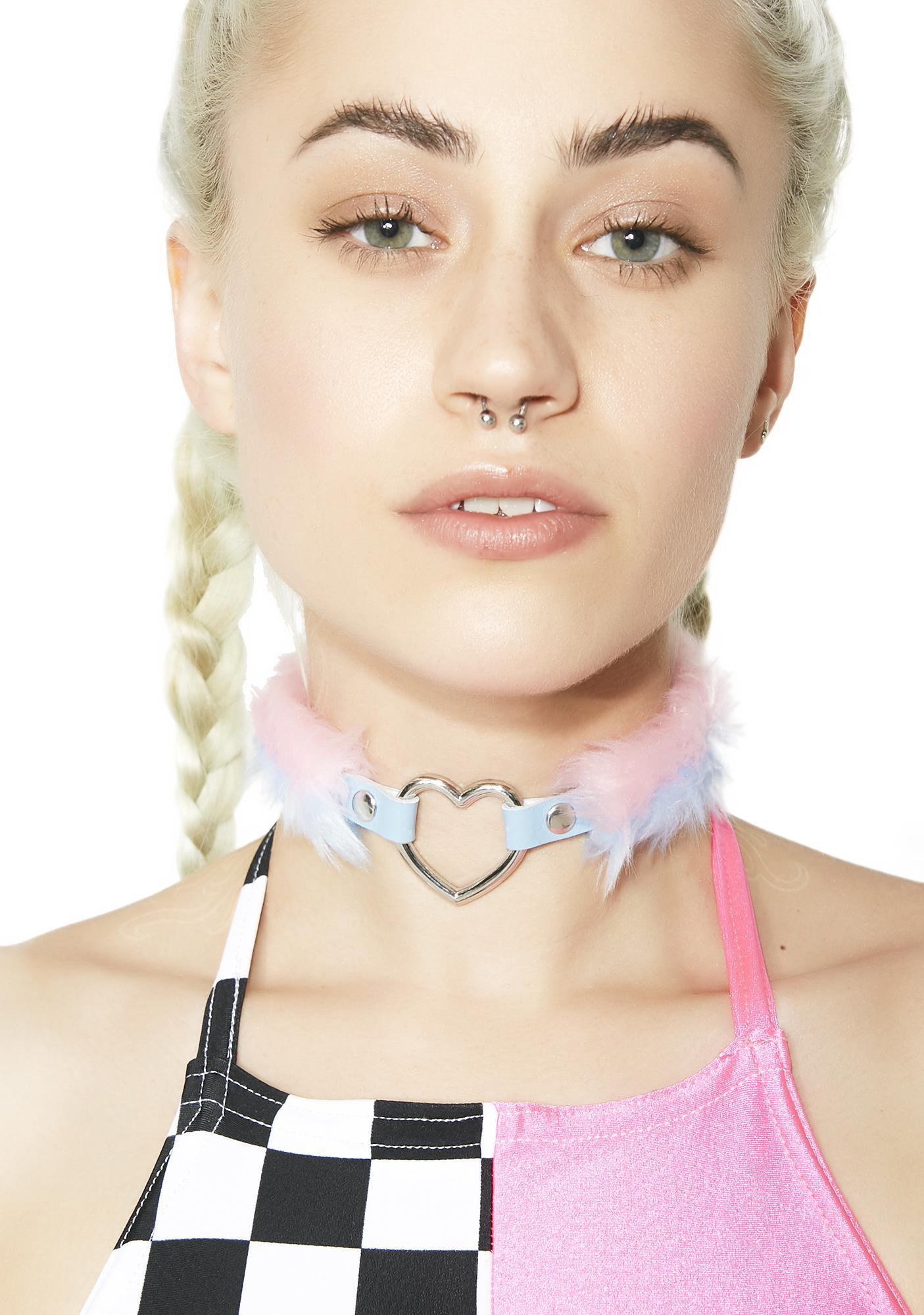 Kerenika Baby Blue Pink Choker