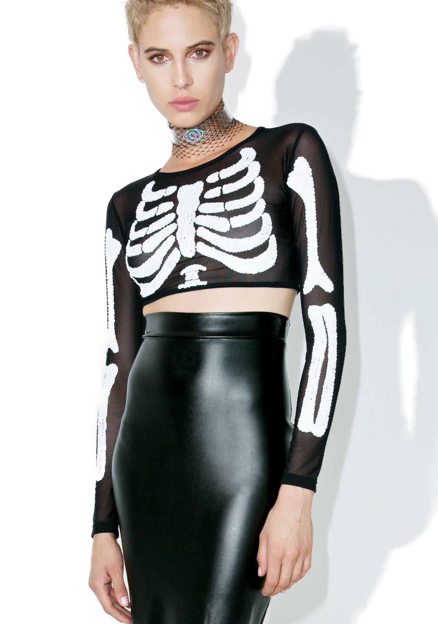 This Is A Love Song Vicious Sparkle Death Crop Top