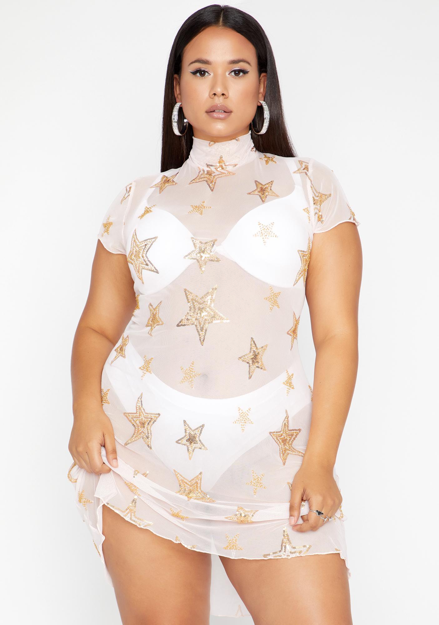 HOROSCOPEZ Let's Blame The Stars Mesh Dress