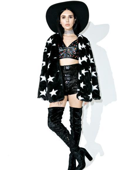 Lucky Star Faux Fur Coat