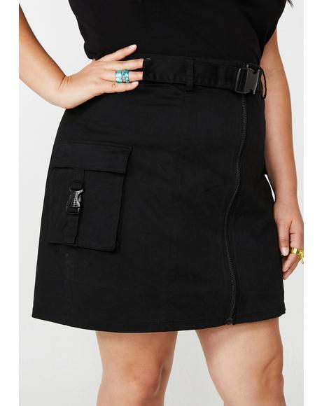 Always Miss Behaving Cargo Skirt