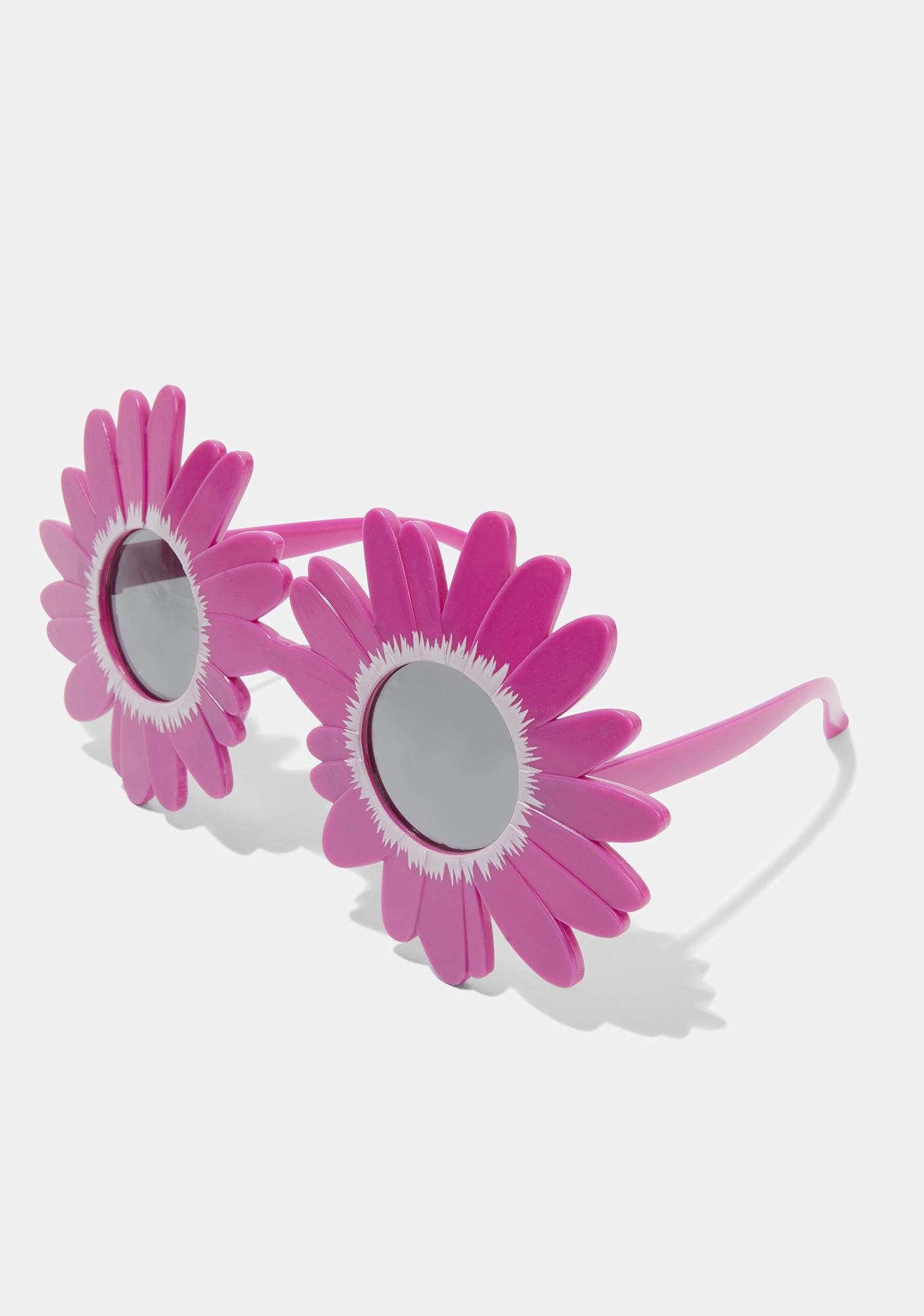 Fuchsia Late Bloomer Sunflower Sunglasses