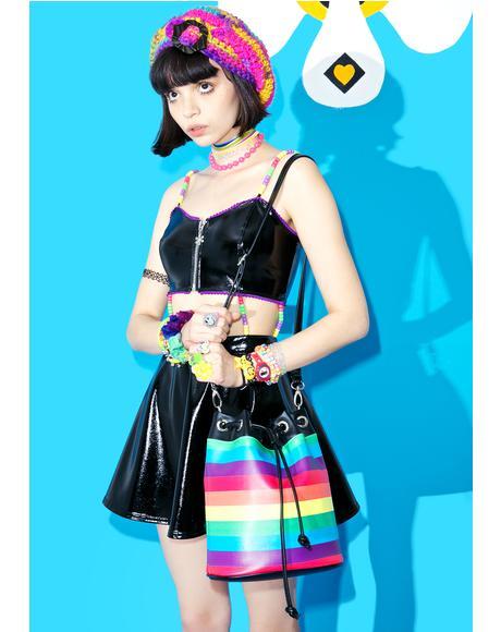 Rockin' Rainbow Bucket Bag