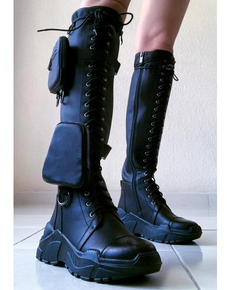 Find My Funds Pocket Combat Boots