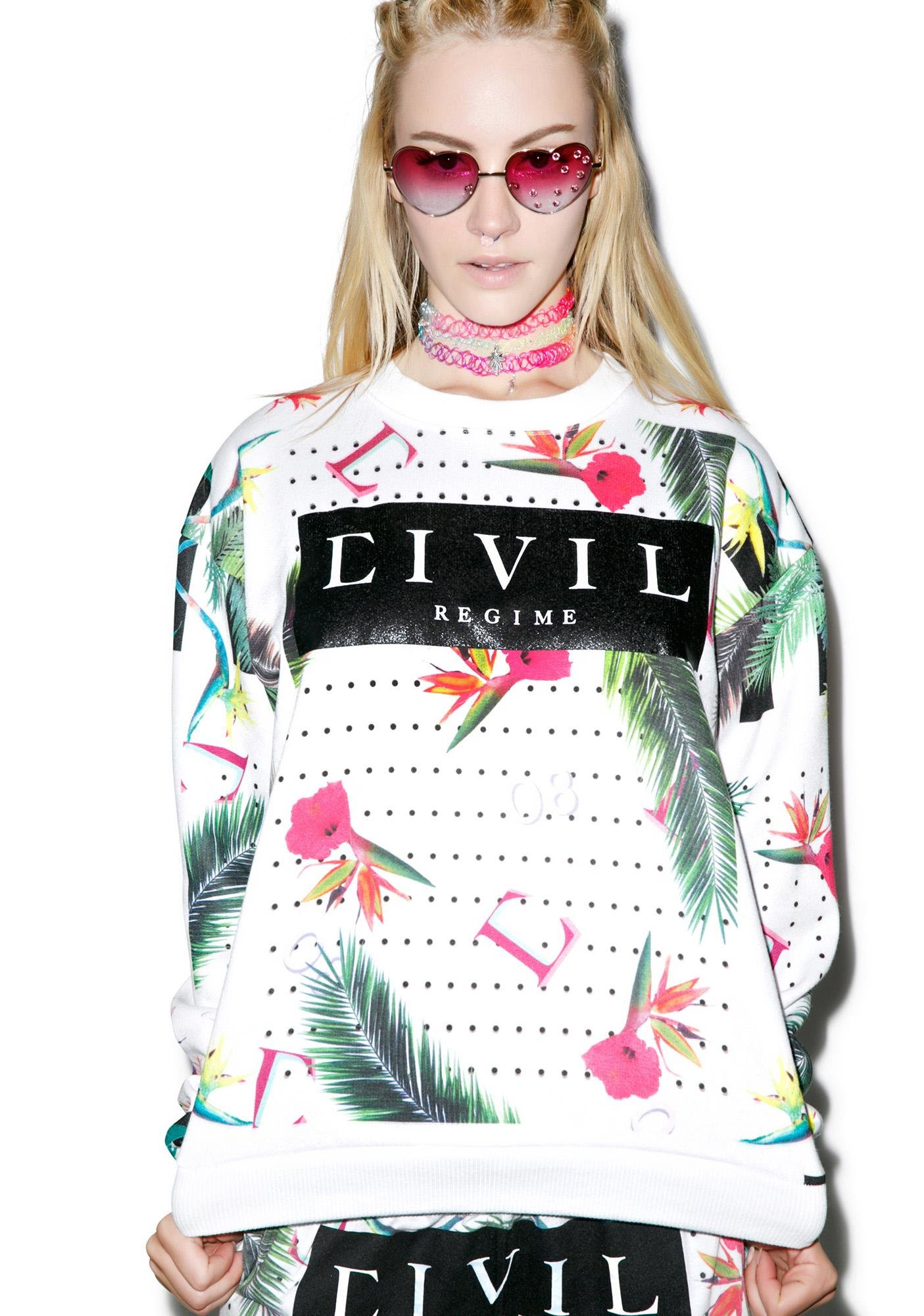 Civil Clothing Floral Crewneck