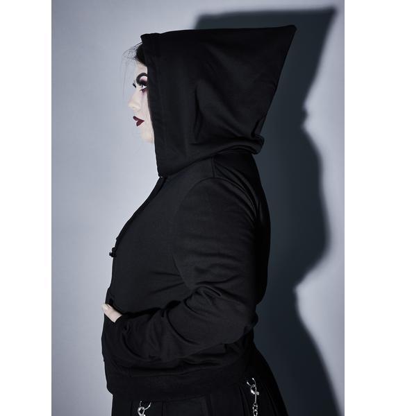 Widow Cruel Demon Reaper Zip-Up Hoodie