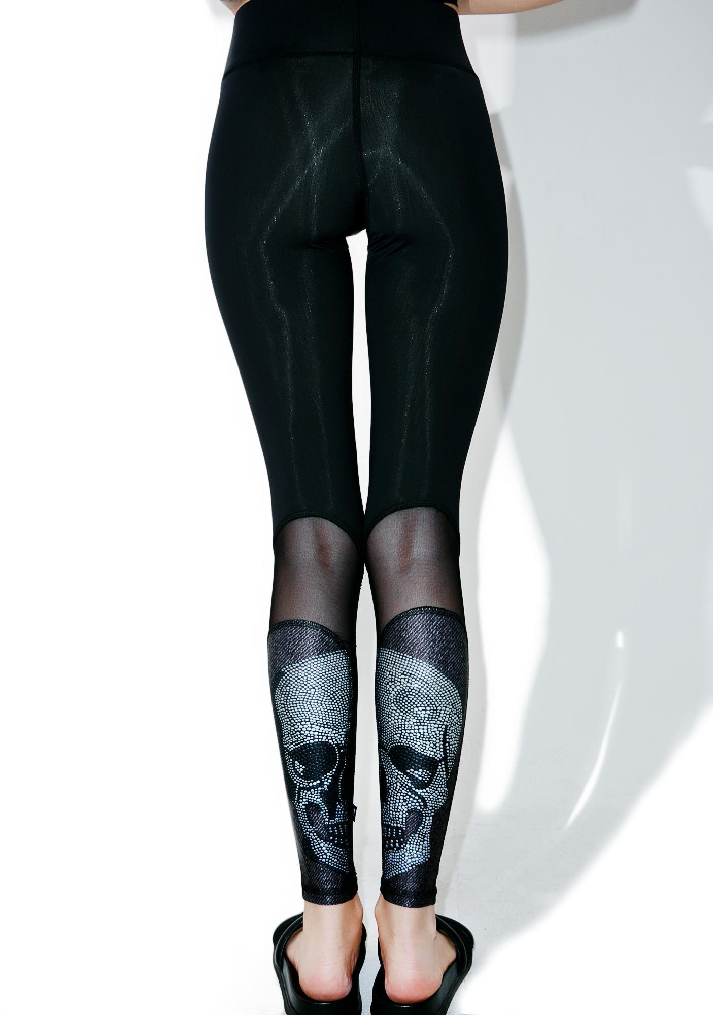 Terez Crystal Skull Leggings