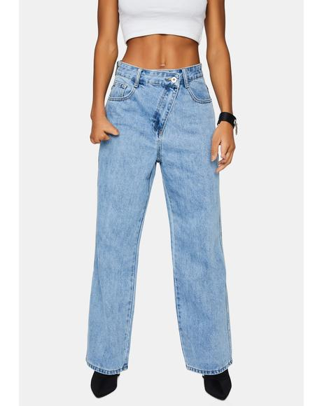 Coming Out On Top Wrap Front Jeans