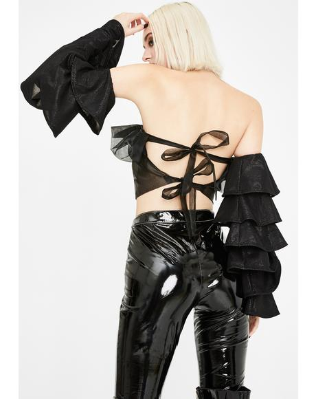 Diva Daily Ruffle Crop Top