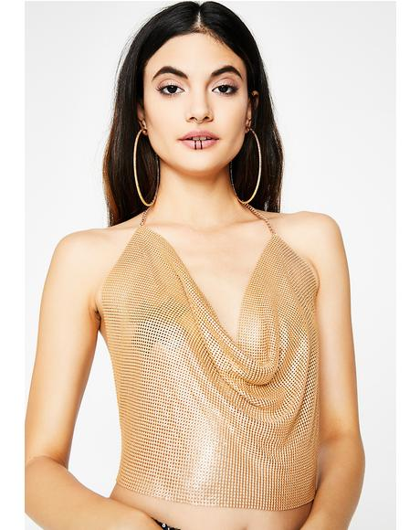Golden Catch Chainmail Top