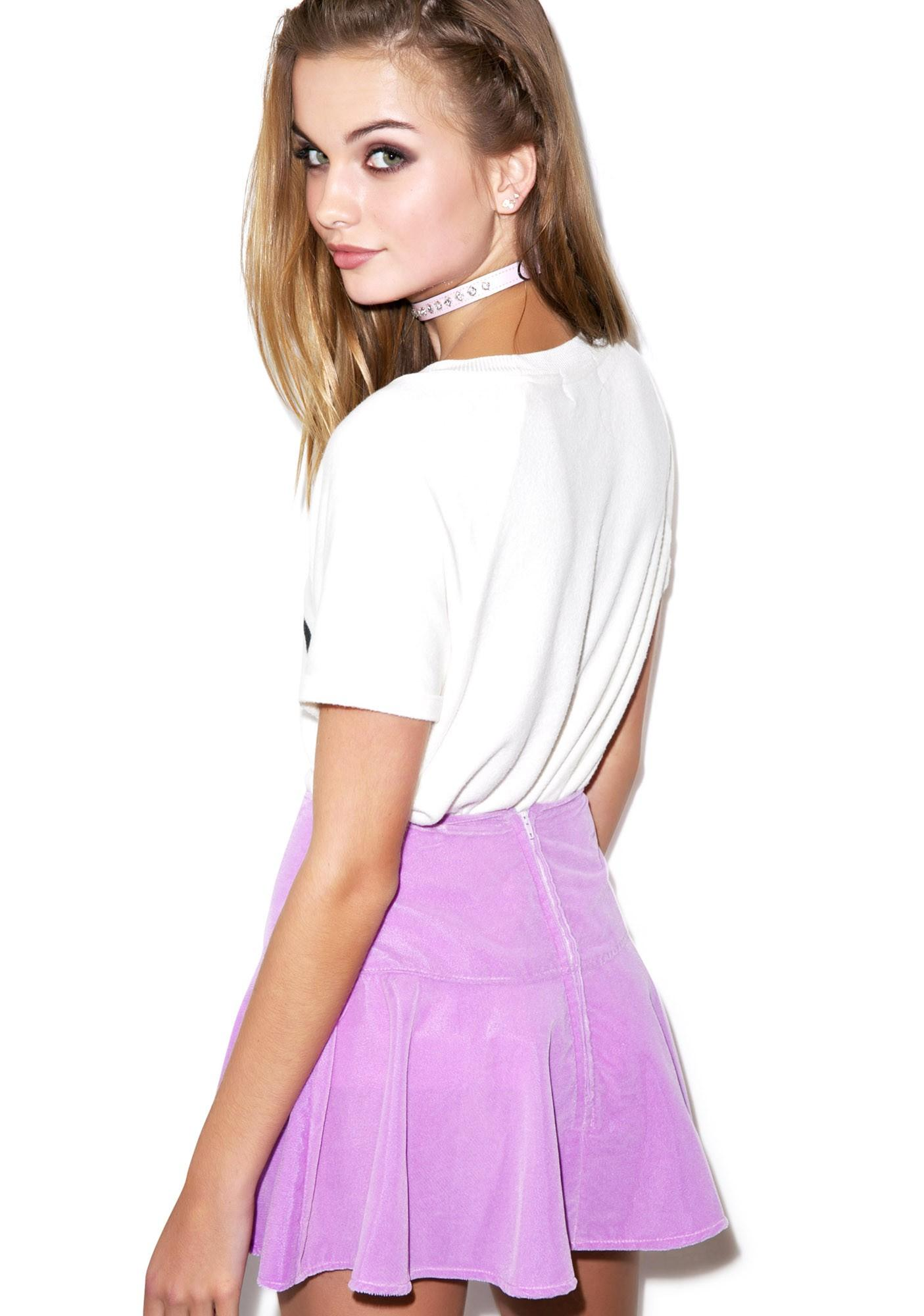 Velvet Sweet Heart Flip Skirt