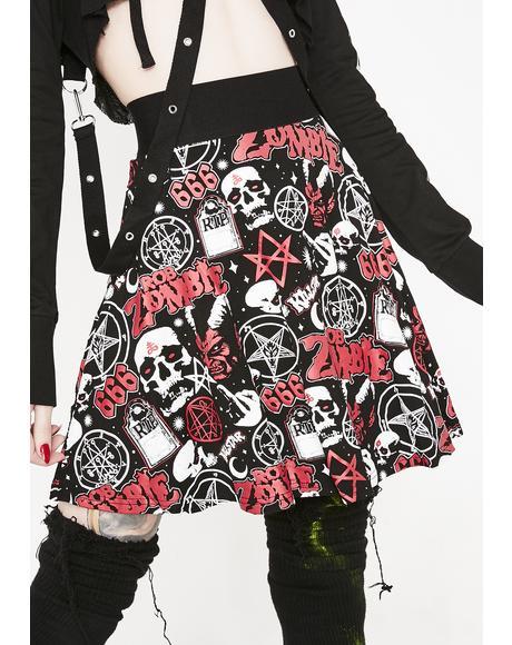 Baby Death Skater Skirt