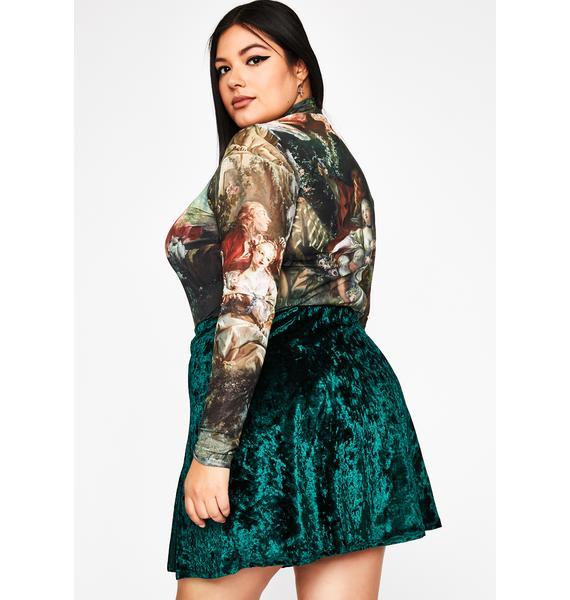 Crisis Mode Velvet Skirt