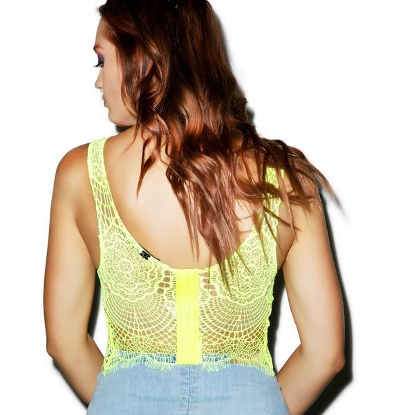 For Love & Lemons Spring Fling Underwire Crop Bra