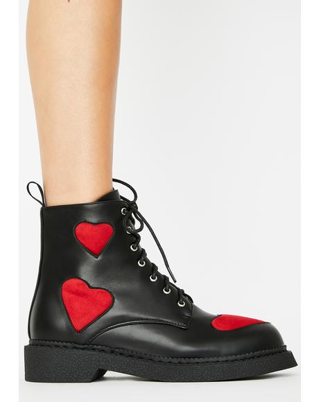 Catchin' Feels Combat Boots